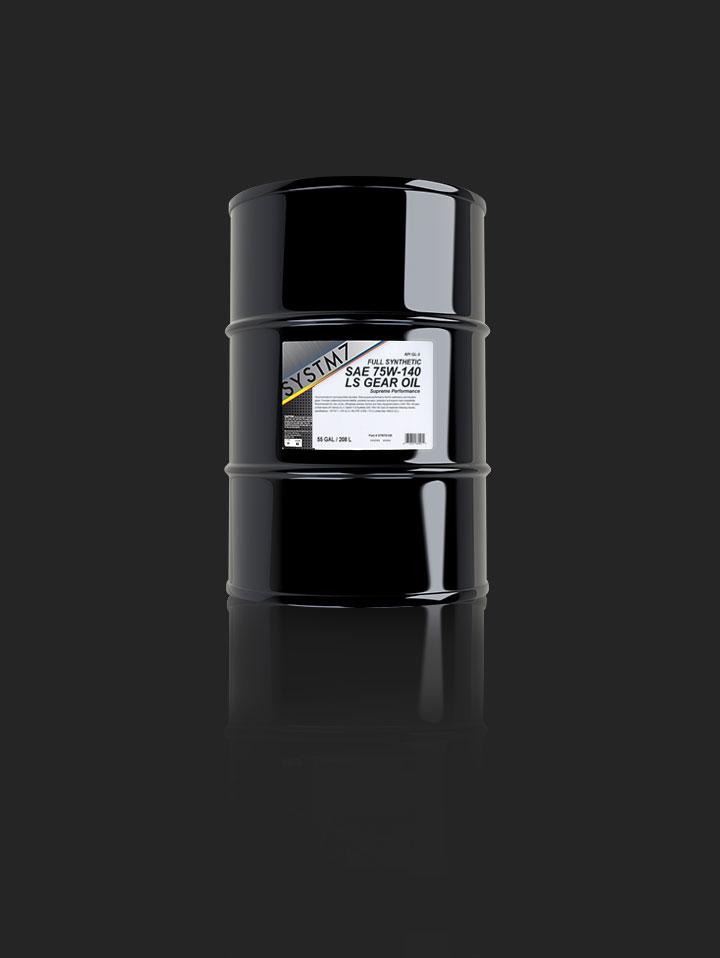 Full Syn SAE 75W140 LS Gear Oil on a drum 55 GAL